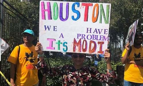 'ہیوسٹن! ہمارا مسئلہ مودی ہے'، امریکا میں مودی مخالف احتجاج