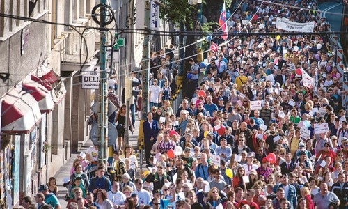 Tens of thousands march for ban on abortion in Slovakia