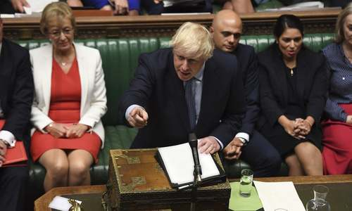 Boris Johnson faces backlash over confrontational tone in UK parliament