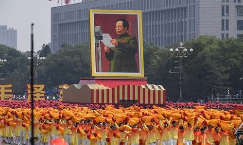 In pictures: China celebrates 70th National Day with military jets and colourful performances