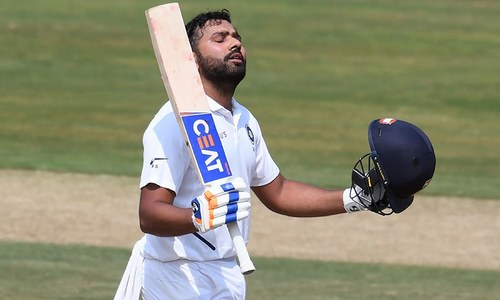 Rohit hits hundred as India make South Africa toil in opening Test