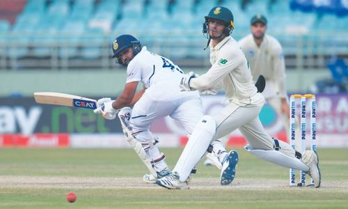 Sharma's second ton helps India set South Africa tall target