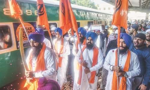 800 Sikh, Hindu pilgrims seen off to Nankana Sahib by special train