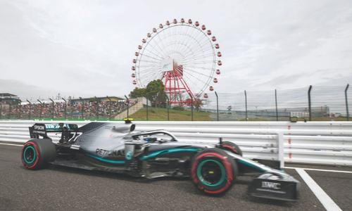 Mercedes sets the pace before Japan GP hunkers down for typhoon
