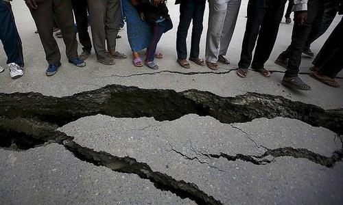 پاکستان کے بالائی علاقوں میں ایک مرتبہ پھر 5.8 شدت کا زلزلہ