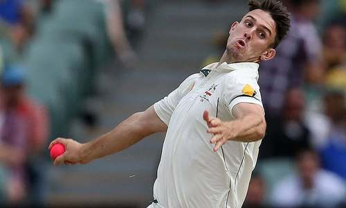 Australia's Mitch Marsh injures bowling hand punching wall