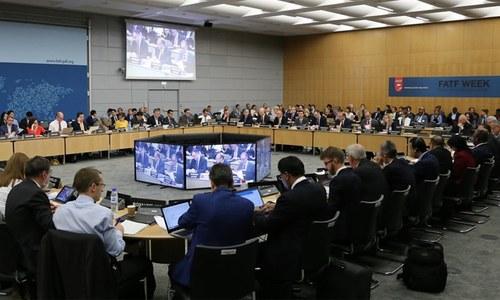 ایف اے ٹی ایف عملدرآمد رپورٹ پیش کرنے کیلئے پاکستانی وفد پیرس میں موجود
