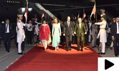 برطانوی شاہی جوڑے کی پاکستان آمد کے مناظر
