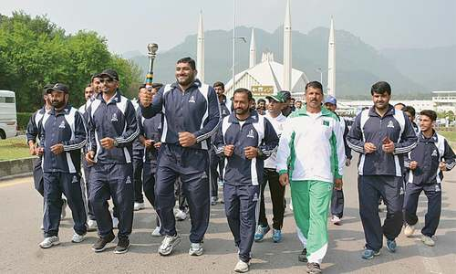 Torch reaches Islamabad amid National Games' postponement