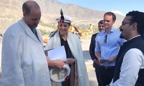 Prince William, Kate arrive in Chitral; gifted a photo album of Diana's 1991 visit