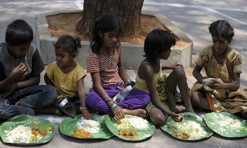 بھوک کا شکار ممالک کی فہرست میں بھارت کی تنزلی، پاکستان کی صورتحال بہتر