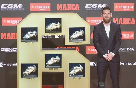 Barca's Messi wins third straight European Golden Shoe