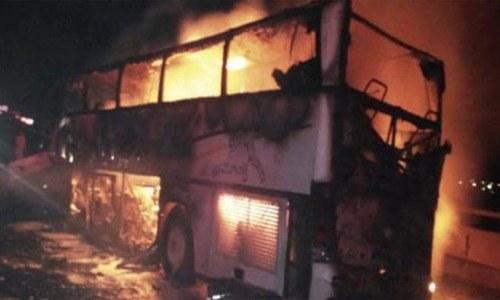 مدینہ منورہ کے قریب بس حادثے میں 35 عمرہ زائرین جاں بحق