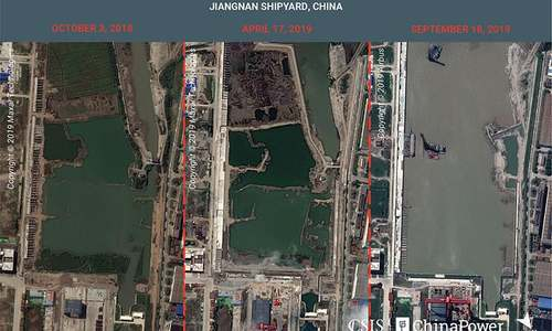 Satellite images reveal China's aircraft carrier 'factory', analysts say