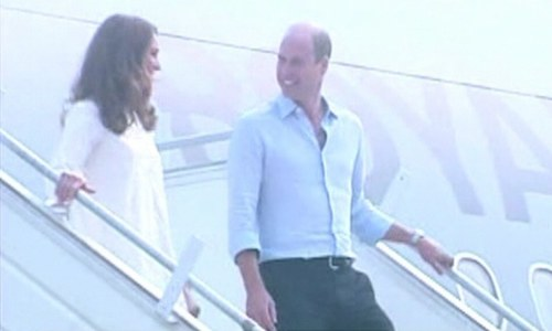 Prince William, Kate arrive in Lahore, welcomed by Punjab chief minister and governor