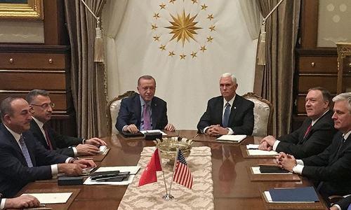 ترکی، امریکا شمال مشرقی شام میں سیز فائر پر راضی ہوگئے ہیں، مائیک پینس