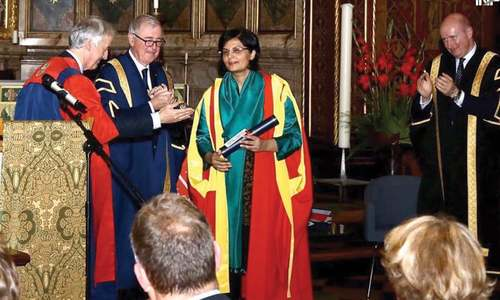 Honorary doctorate for Sania Nishtar