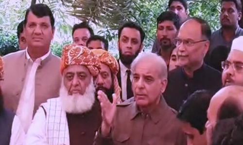 Shahbaz announces PML-N's 'full participation' in JUI-F's Azadi March