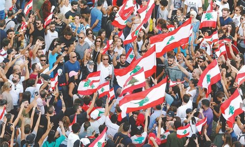 Thousands take to Lebanon's streets in third day of protest
