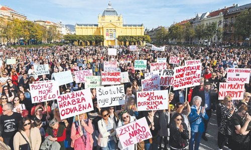 Croatians protest over release of teen's suspected rapists