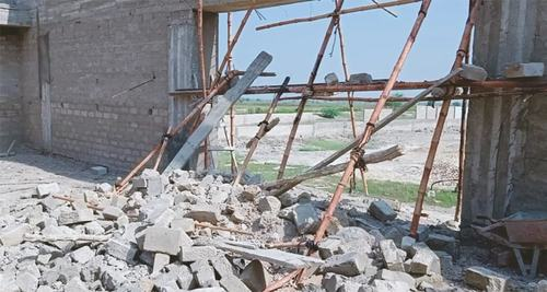 Sports complex wall collapses during construction in Ghotki district