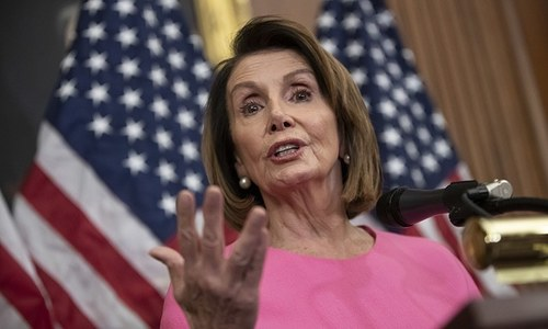 Pelosi holds talks in Jordan on crisis