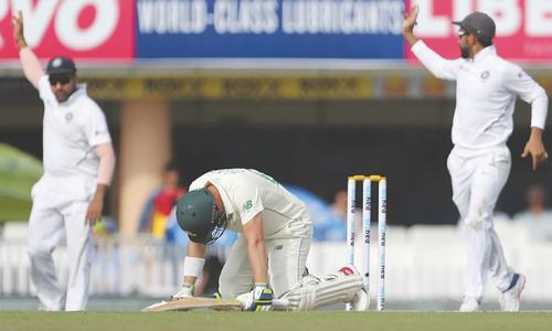 India on brink of Test sweep over SA as Elgar suffers blow