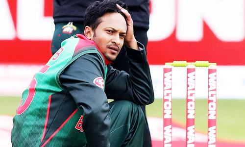 Protests in Bangladesh over ban on cricket hero Shakib