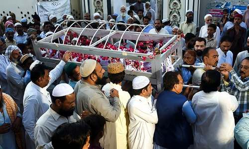 Funerals begin as Mirpurkhas mourns victims of Tezgam fire
