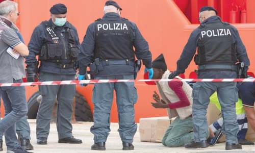 Italian ship with 151 rescued migrants docks in Sicily
