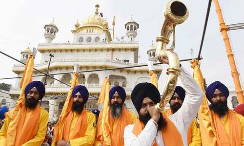 Sikhs celebrate founder Guru Nanak's birth anniversary