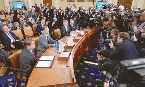 Trump impeachment hearing begins with stark allegation by envoy to Ukraine