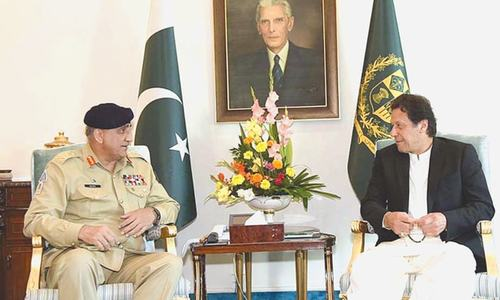 PM lauds military role in meeting with Bajwa