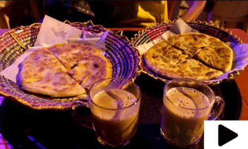 سرد موسم اور کراچی میں گرما گرم چائے پراٹھے