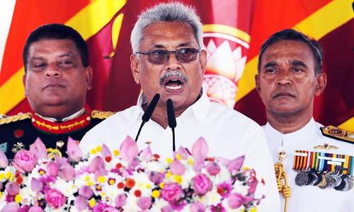 Symbolic swearing-in for Sri Lanka's new president