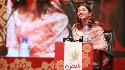Mahira Khan talks about stardom with responsibility at Faiz International Festival
