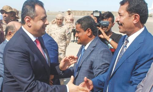 Yemeni govt back in Aden under peace deal