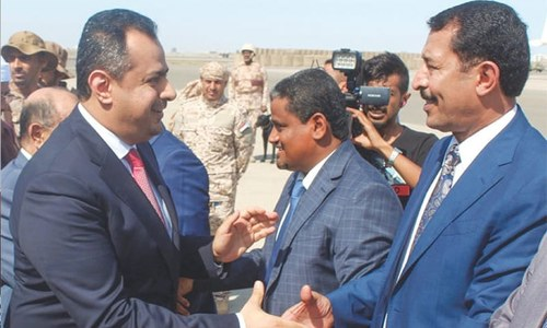 یمن:  امن معاہدے کے تحت عدن میں حکومت کی واپسی