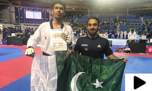 پاکستانی تائیکوانڈو کھلاڑی نے چاندی کا تمغہ جیت لیا