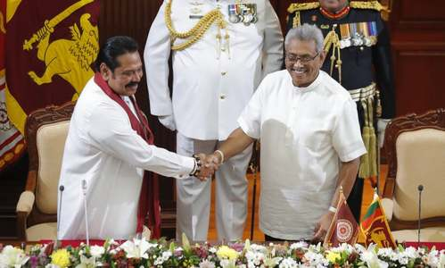 Ex-President Mahinda Rajapaksa sworn in Sri Lanka's new PM