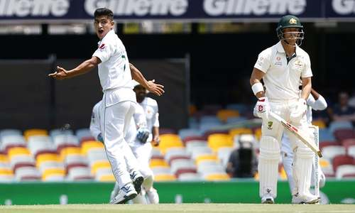 Australia unmoved despite lightning start by 16-year-old Naseem