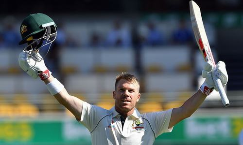 David Warner scores first century since year-long ban