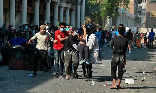 عراق: حکومت مخالف احتجاج جاری، فائرنگ سے مزید 4 شہری جاں بحق
