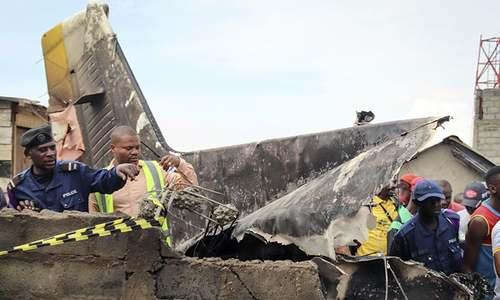 Plane crashes into busy Congo city, killing 23