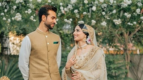 Cricket commentator Zainab Abbas has tied the knot