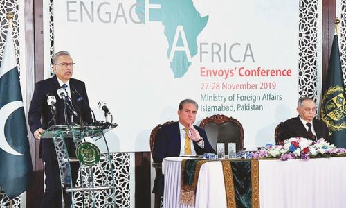 Alvi urges African states to jointly fight poverty, illiteracy