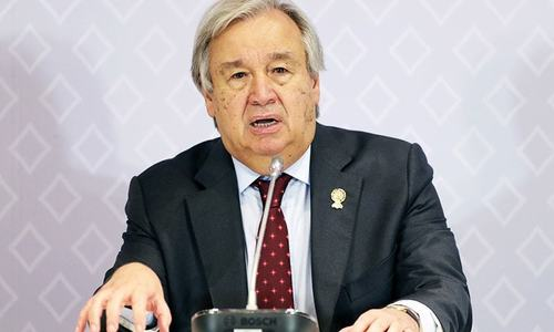 'Point of no return' on climate crisis near: UN chief