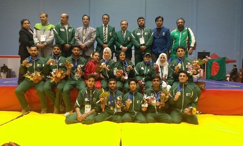 Waseem wins 110m gold at South Asian Games