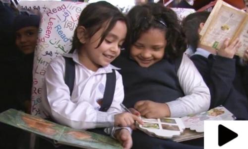 لاہور میں بچوں کے لیے 'نالج آن ویلز' نامی لائبریری متعارف