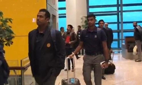 سری لنکن ٹیم ٹیسٹ سیریز کھیلنے کیلئے پاکستان پہنچ گئی